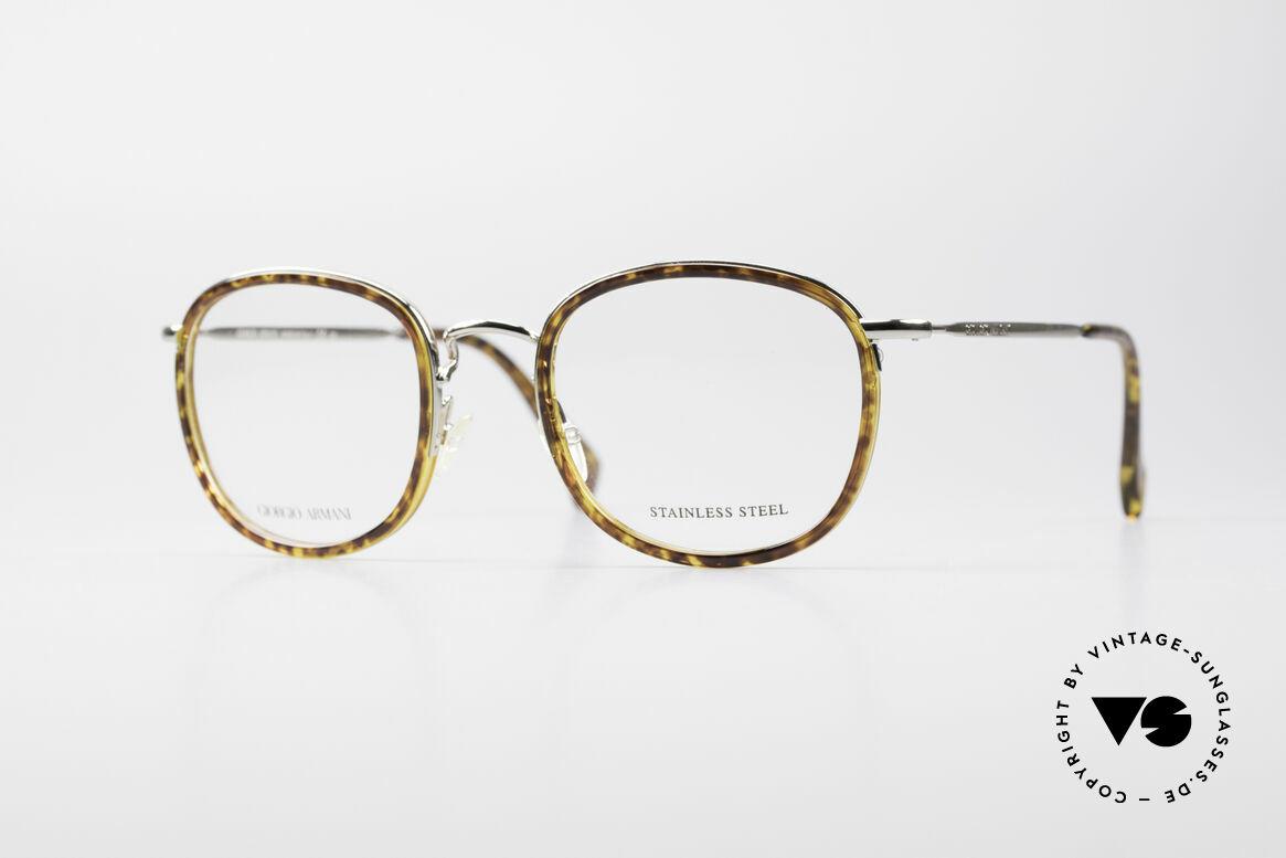 Giorgio Armani 863 Square Panto Eyeglass-Frame, timeless GIORGIO ARMANI vintage designer glasses, Made for Men