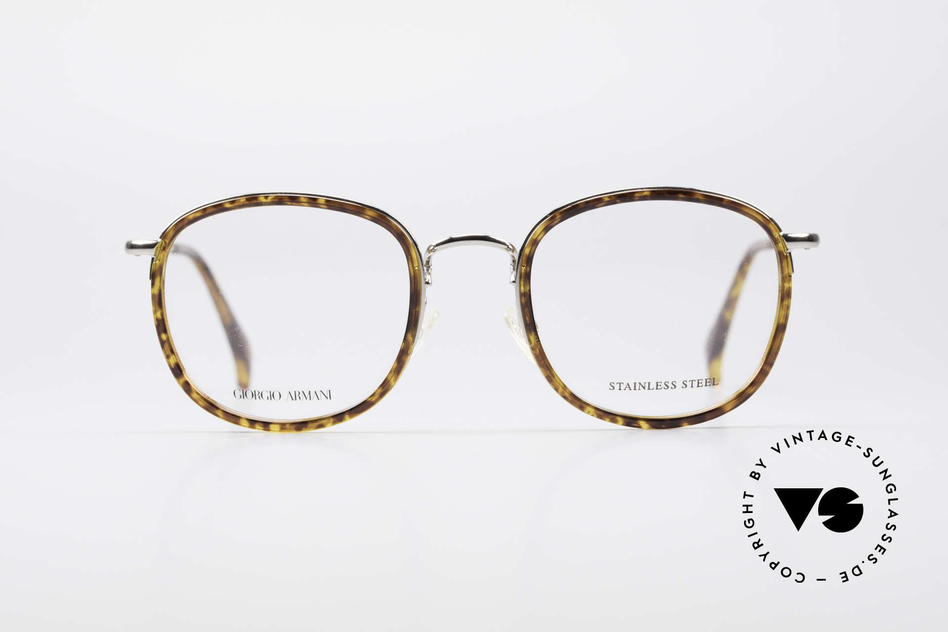 Giorgio Armani 863 Square Panto Eyeglass-Frame, square 'panto design' with discreet elegant coloring, Made for Men