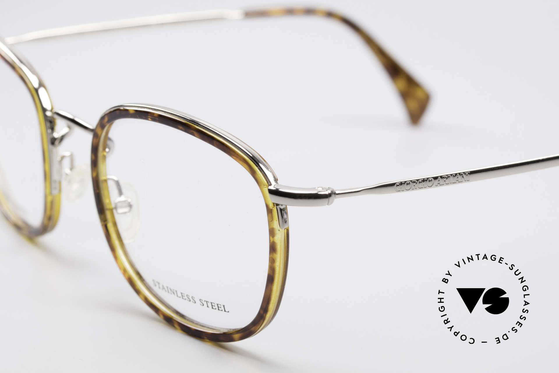 Giorgio Armani 863 Square Panto Eyeglass-Frame, unworn, NOS, one of a kind and outstanding quality, Made for Men