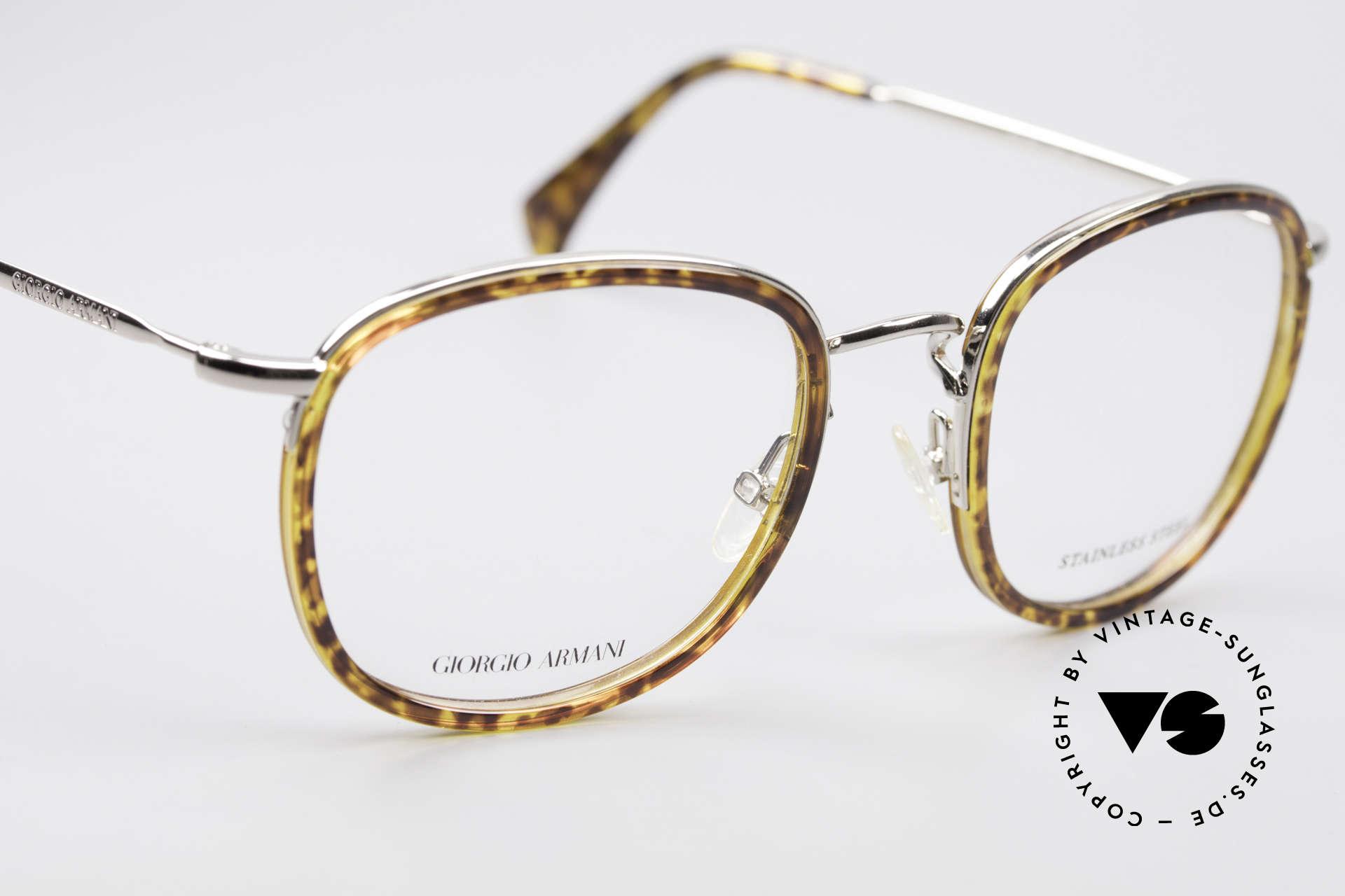 Giorgio Armani 863 Square Panto Eyeglass-Frame, NO RETRO EYEGLASSES, but true 1990's commodity!, Made for Men