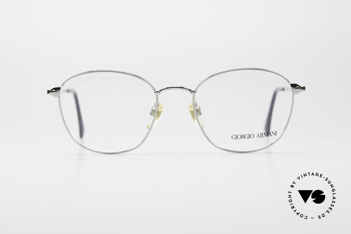 Giorgio Armani 168 Men's Vintage Eyeglasses 80's, discreet panto metal frame: tangible top-quality, Made for Men