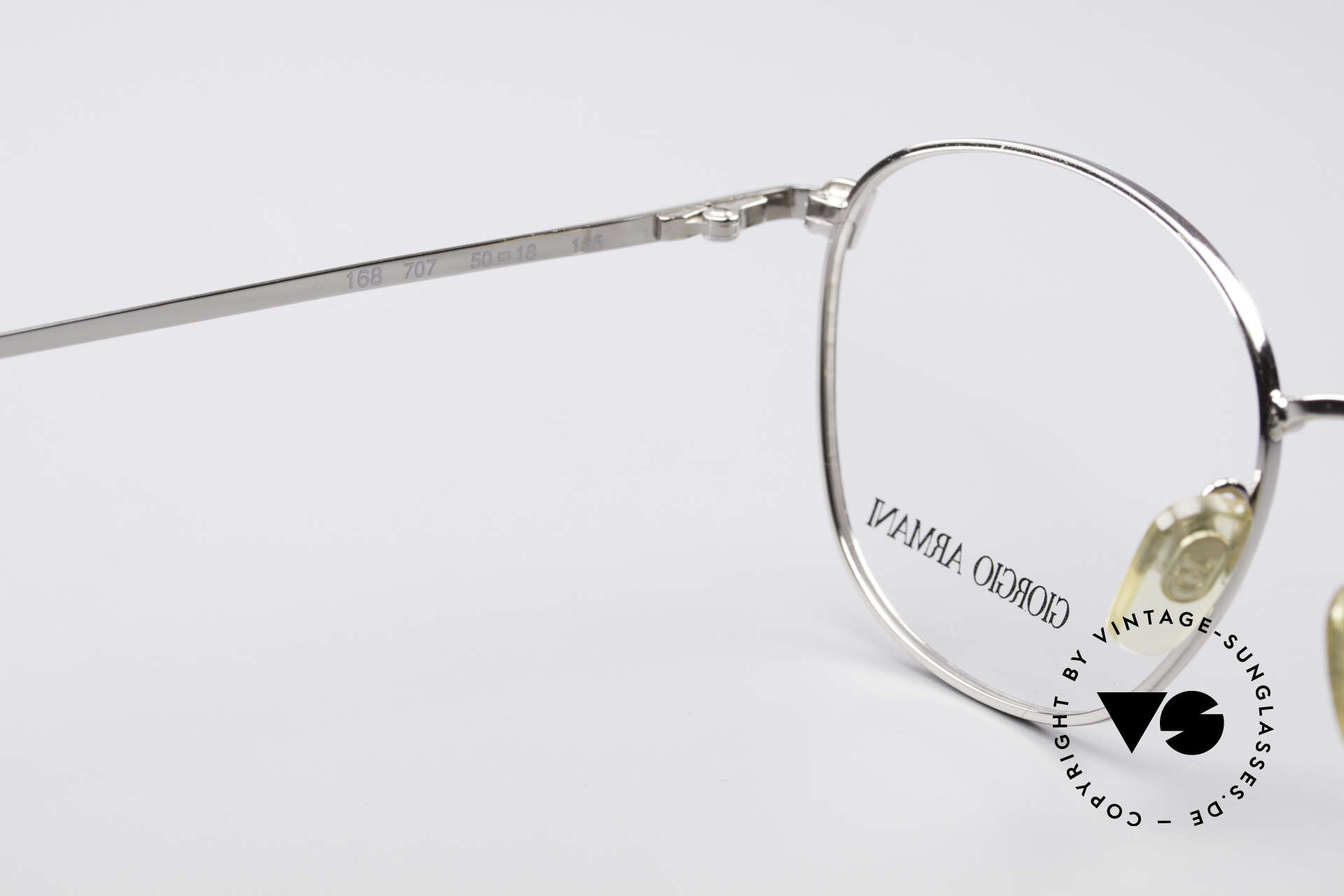 Giorgio Armani 168 Men's Vintage Eyeglasses 80's, frame fits optical lenses or sun lenses optionally, Made for Men