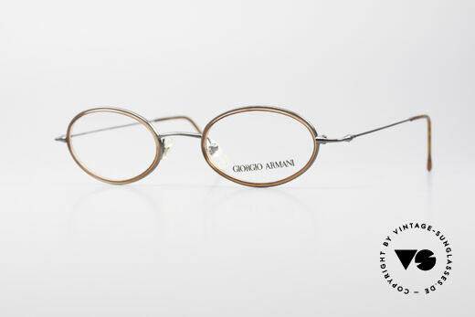 Giorgio Armani 1012 Oval Vintage Unisex Frame Details