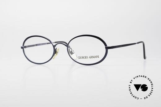 Giorgio Armani 277 90's Oval Vintage Eyeglasses Details