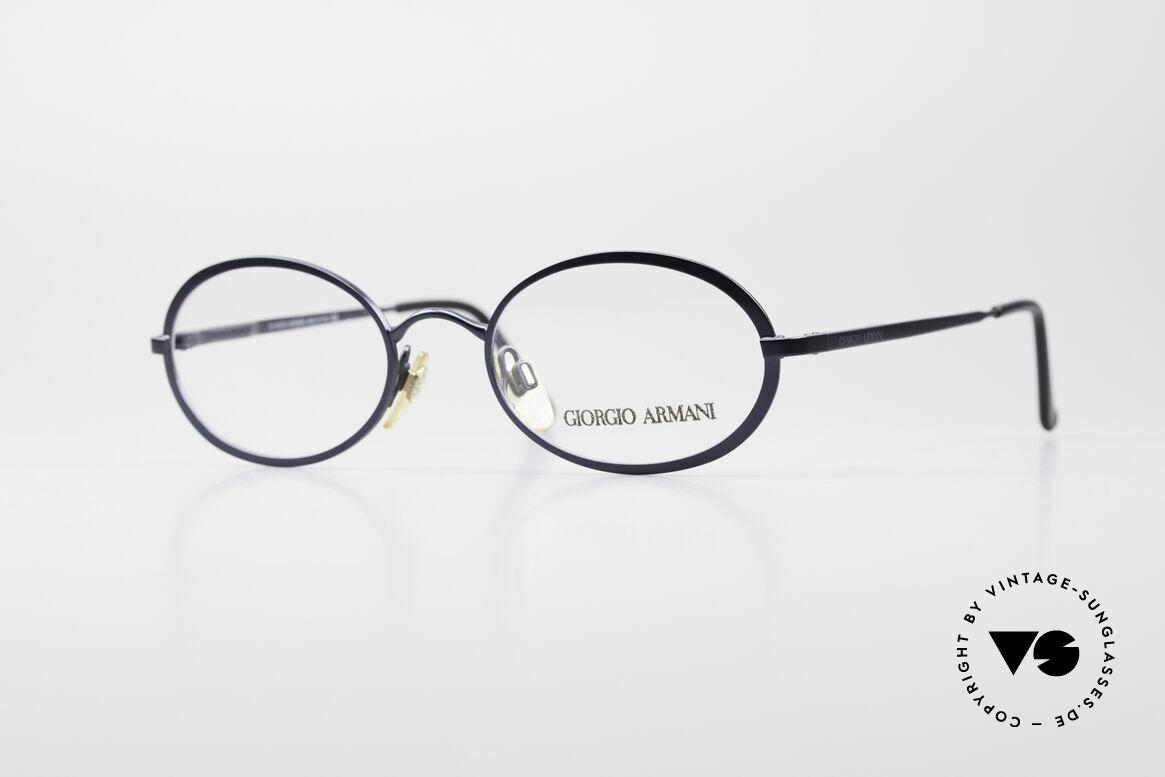 Giorgio Armani 277 90's Oval Vintage Eyeglasses, oval designer eyeglass-frame by GIORGIO ARMANI, Made for Men and Women