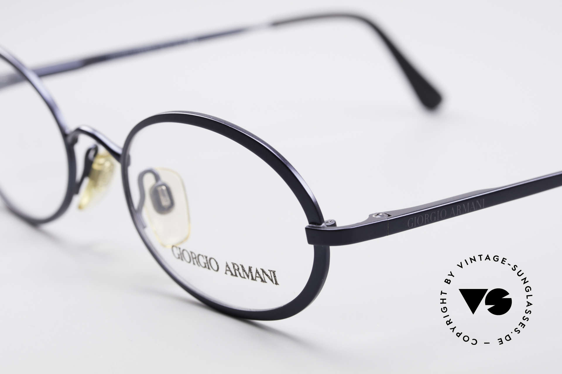 Giorgio Armani 277 90's Oval Vintage Eyeglasses, never worn (like all our 1990's designer classics), Made for Men and Women