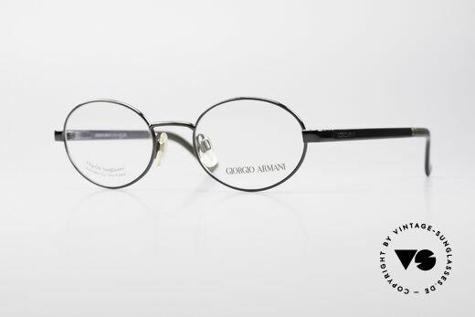 Giorgio Armani 257 90s Oval Vintage Eyeglasses Details