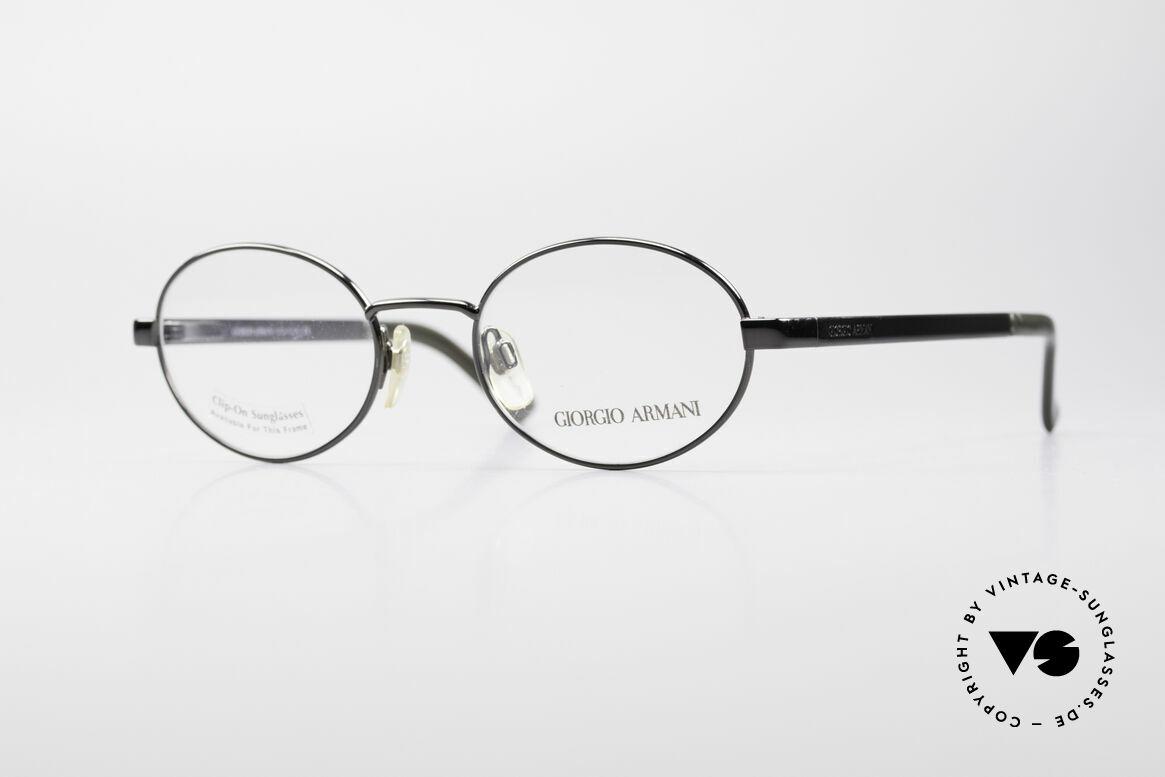 Giorgio Armani 257 90s Oval Vintage Eyeglasses, oval designer eyeglass-frame by GIORGIO ARMANI, Made for Men and Women