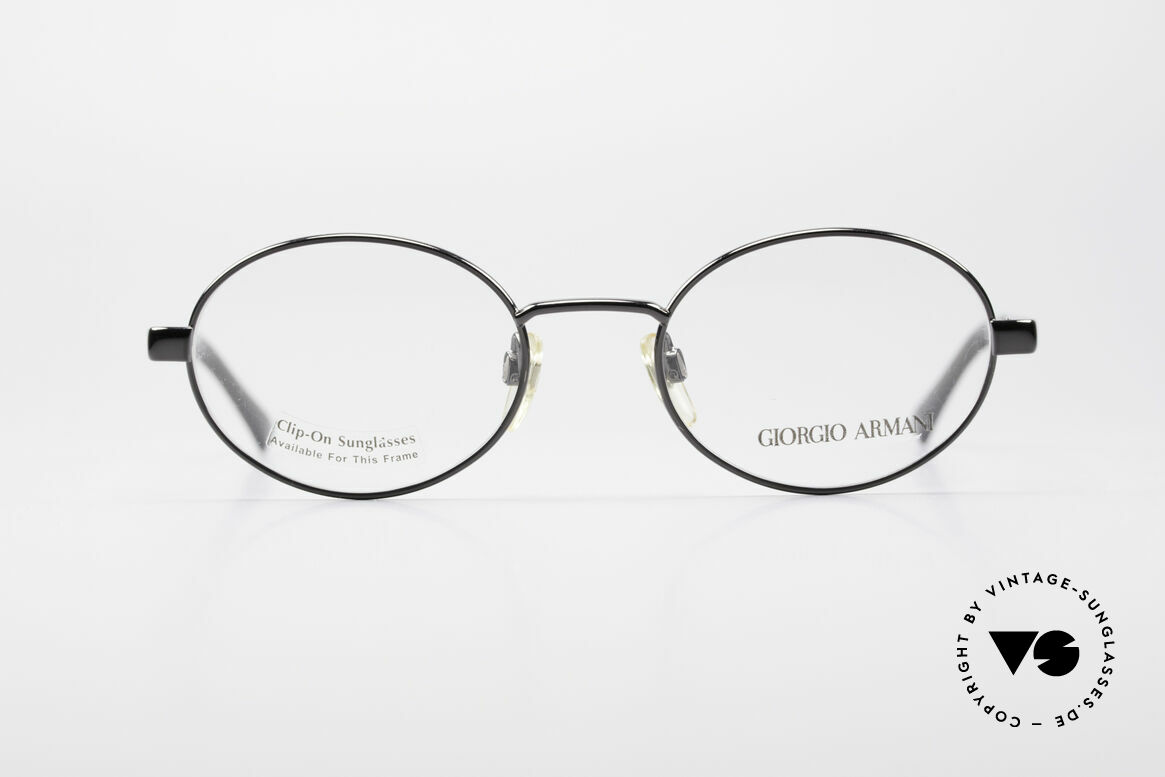 Giorgio Armani 257 90s Oval Vintage Eyeglasses, sober, timeless style: suitable for many occasions, Made for Men and Women