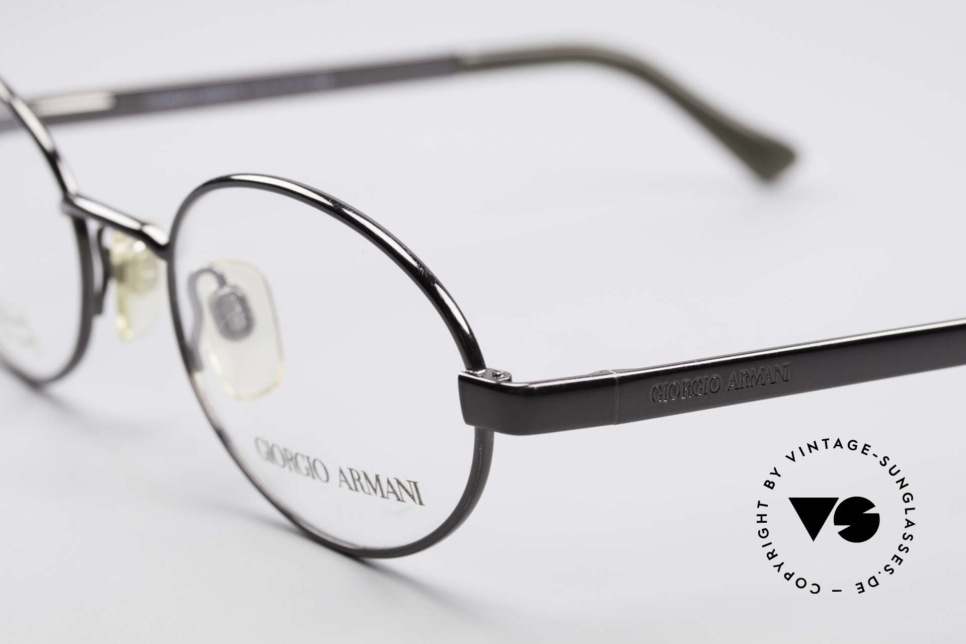 Giorgio Armani 257 90s Oval Vintage Eyeglasses, never worn (like all our 1990's designer classics), Made for Men and Women