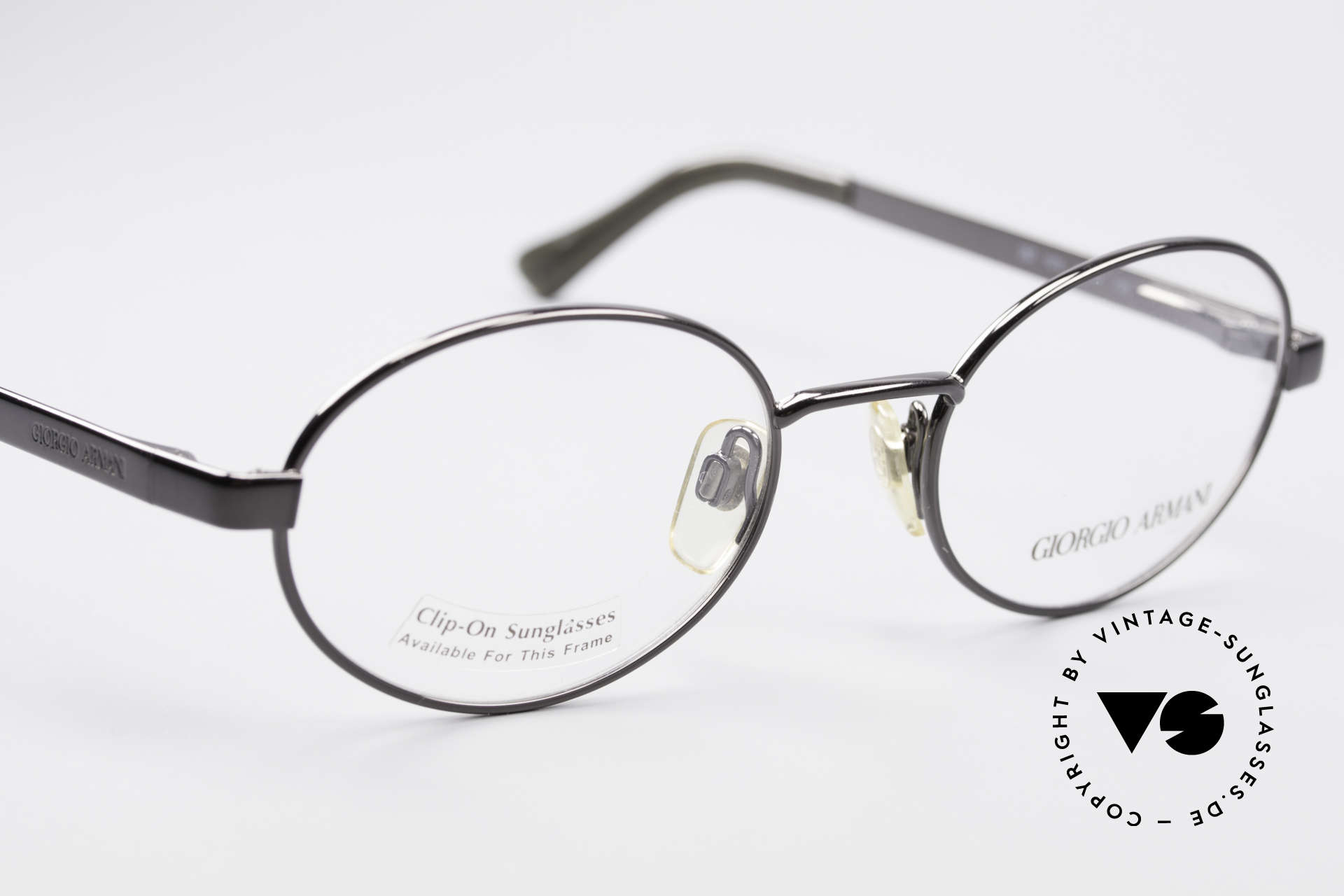 Giorgio Armani 257 90s Oval Vintage Eyeglasses, NO RETRO EYEWEAR, but a 25 years old Original, Made for Men and Women