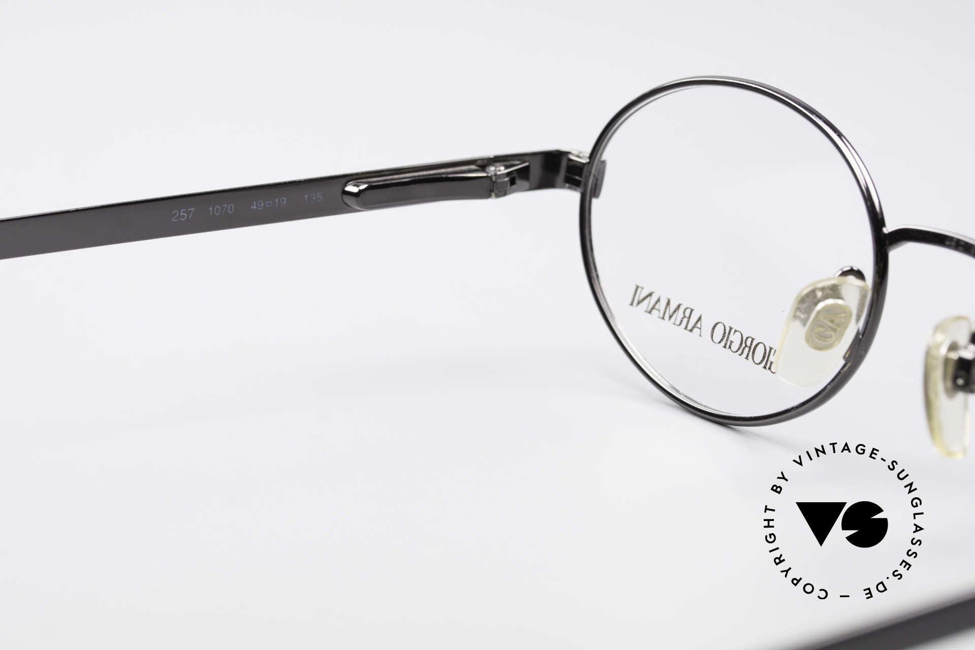 Giorgio Armani 257 90s Oval Vintage Eyeglasses, frame fits optical lenses or sun lenses optionally, Made for Men and Women