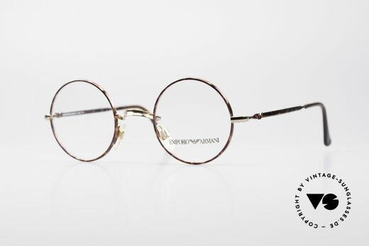 Giorgio Armani EA013 Small Round Vintage Glasses Details