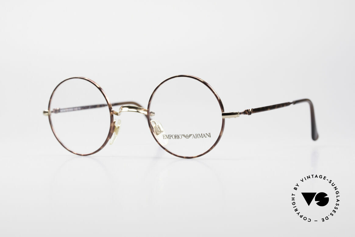 Giorgio Armani EA013 Small Round Vintage Glasses, SMALL ROUND vintage eyeglasses by ARMANI, Made for Men and Women