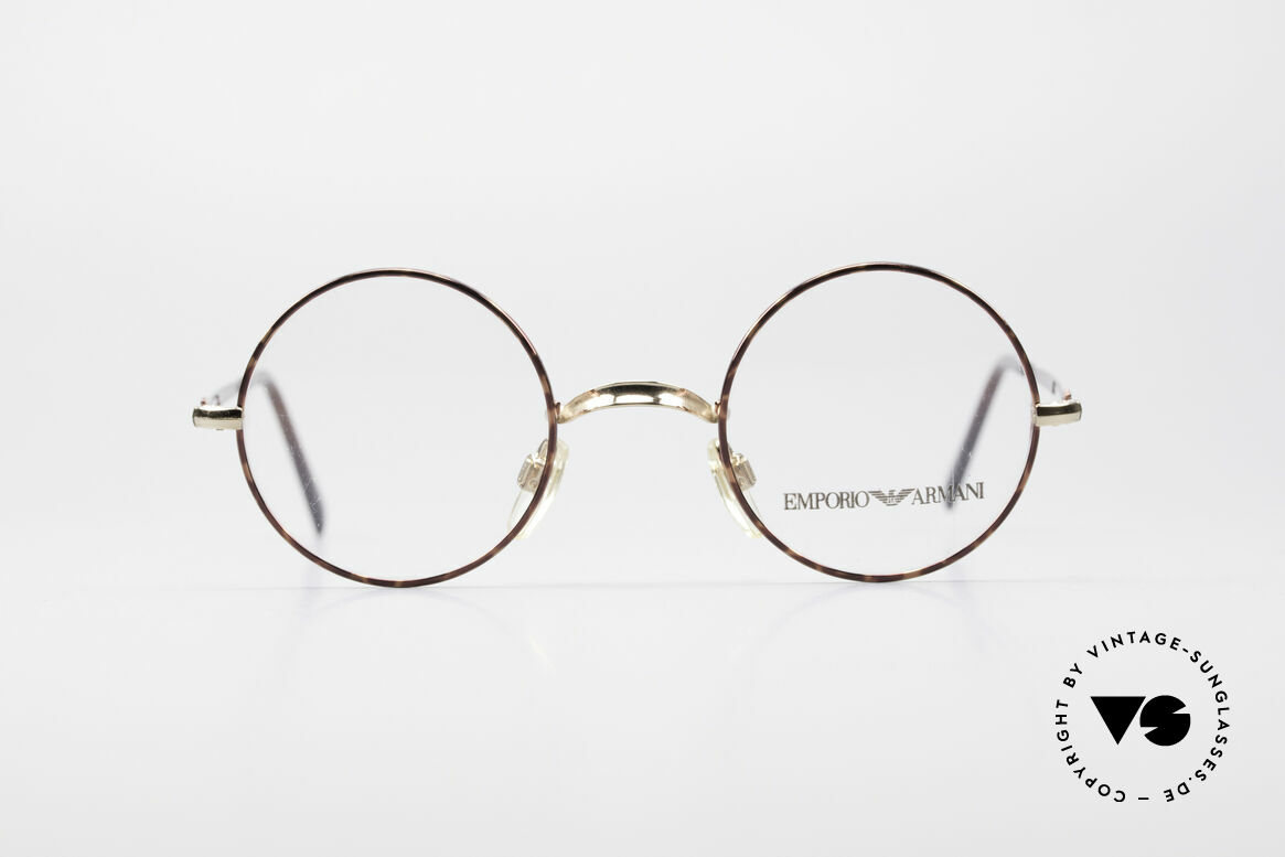 Giorgio Armani EA013 Small Round Vintage Glasses, discreet round model of the Emporio collection, Made for Men and Women