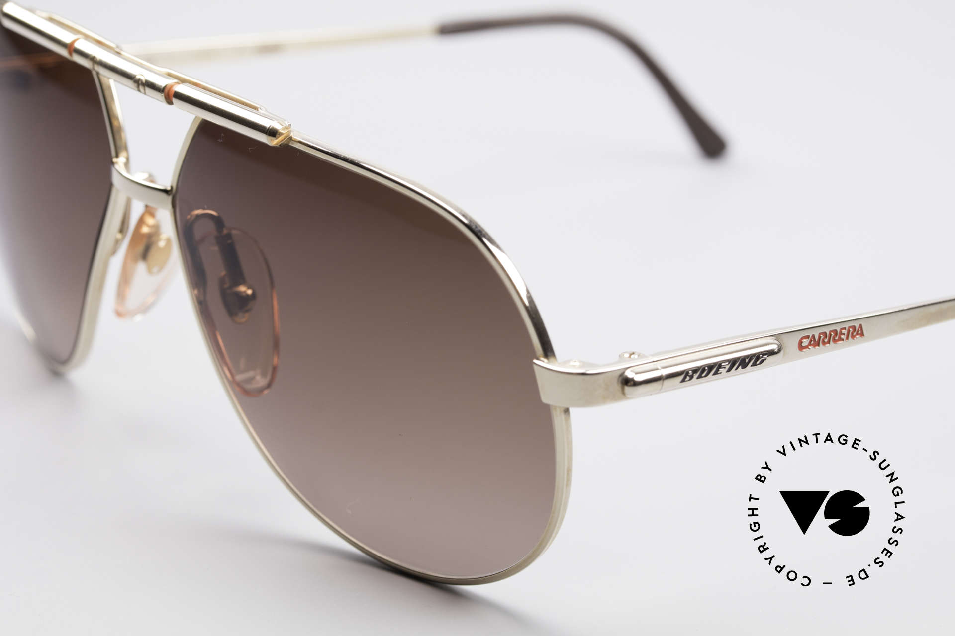"""Boeing 5732 High Tech 80's Pilots Shades, """"SMALL"""" 80's size (58/12) = a MEDIUM size, today, Made for Men and Women"""
