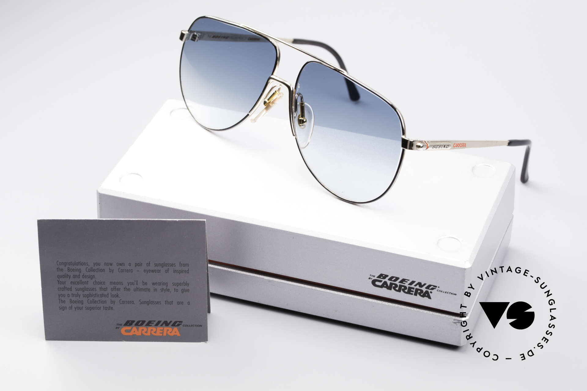 Boeing 5730 True Aviator 80s Sunglasses, new old stock (like all our vintage BOEING by Carrera), Made for Men