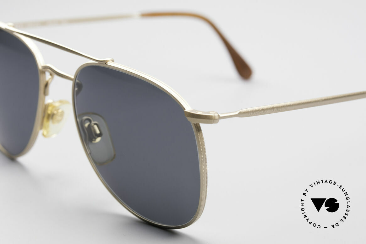 Giorgio Armani 149 Designer Aviator Sunglasses, 122mm width = SMALL size (suitable for women), Made for Men and Women