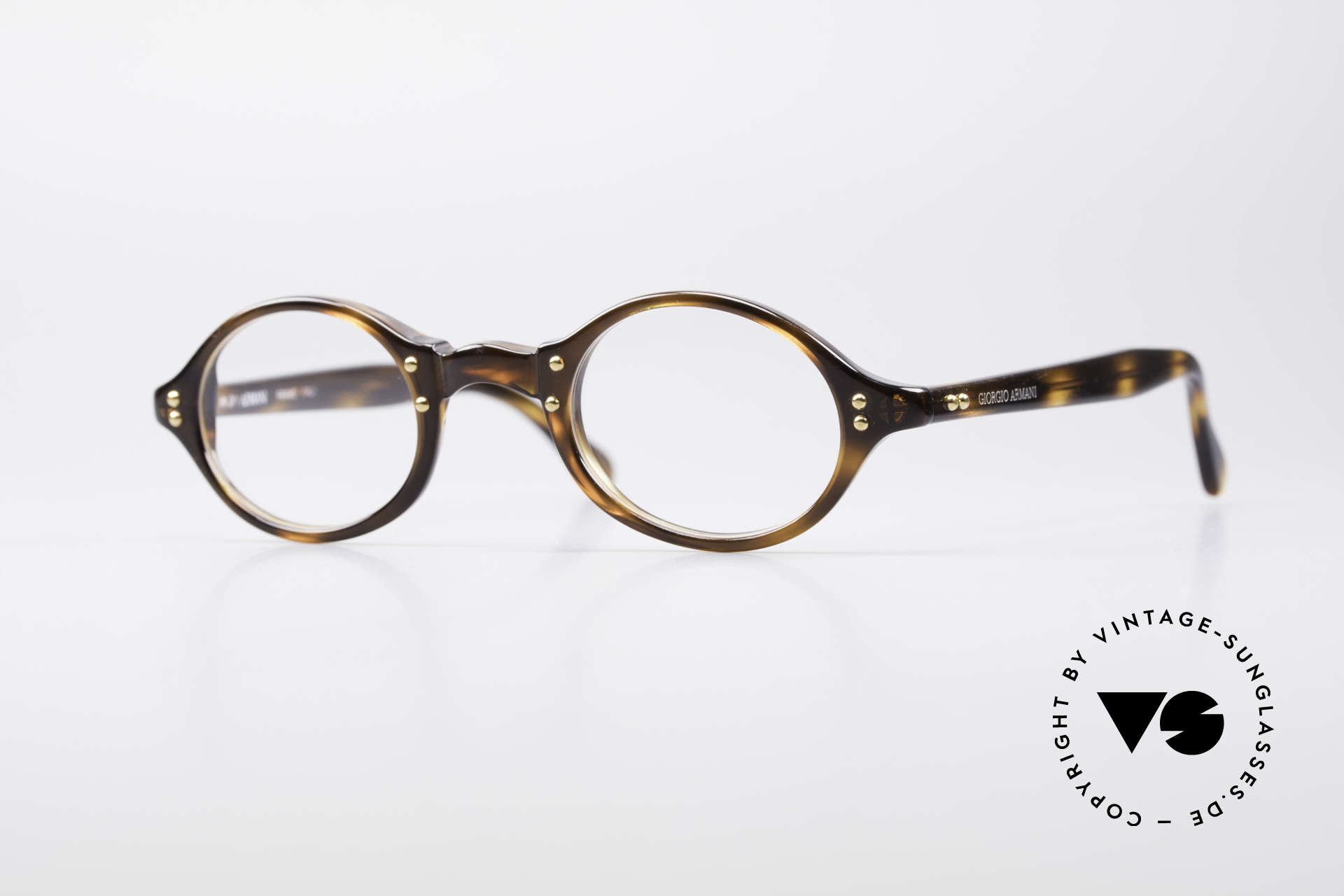 Giorgio Armani 342 Small Oval 90's Eyeglasses, vintage designer eyeglass-frame by Giorgio Armani, Made for Men and Women