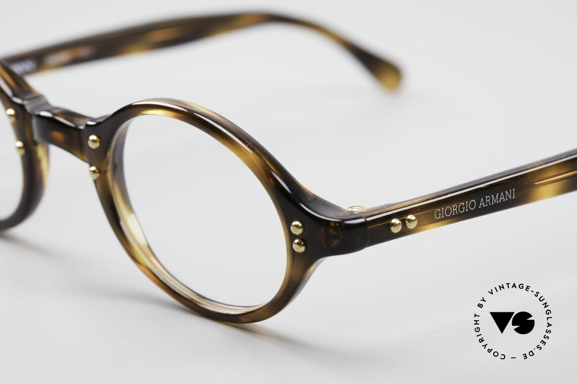 Giorgio Armani 342 Small Oval 90's Eyeglasses, never worn (like all our vintage 1990's Armani frames), Made for Men and Women