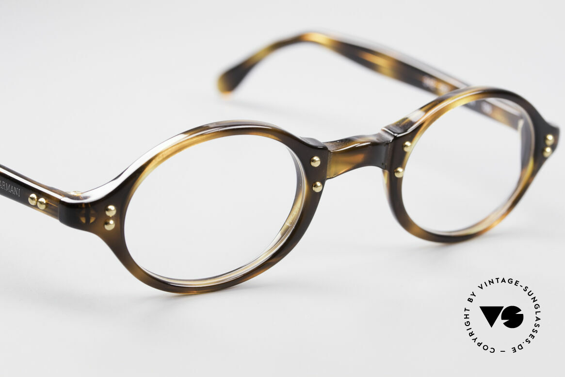 Giorgio Armani 342 Small Oval 90's Eyeglasses, NO RETRO; a unique original in SMALL 123mm size!, Made for Men and Women