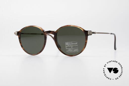 Giorgio Armani 358 Vintage Panto Sunglasses Details