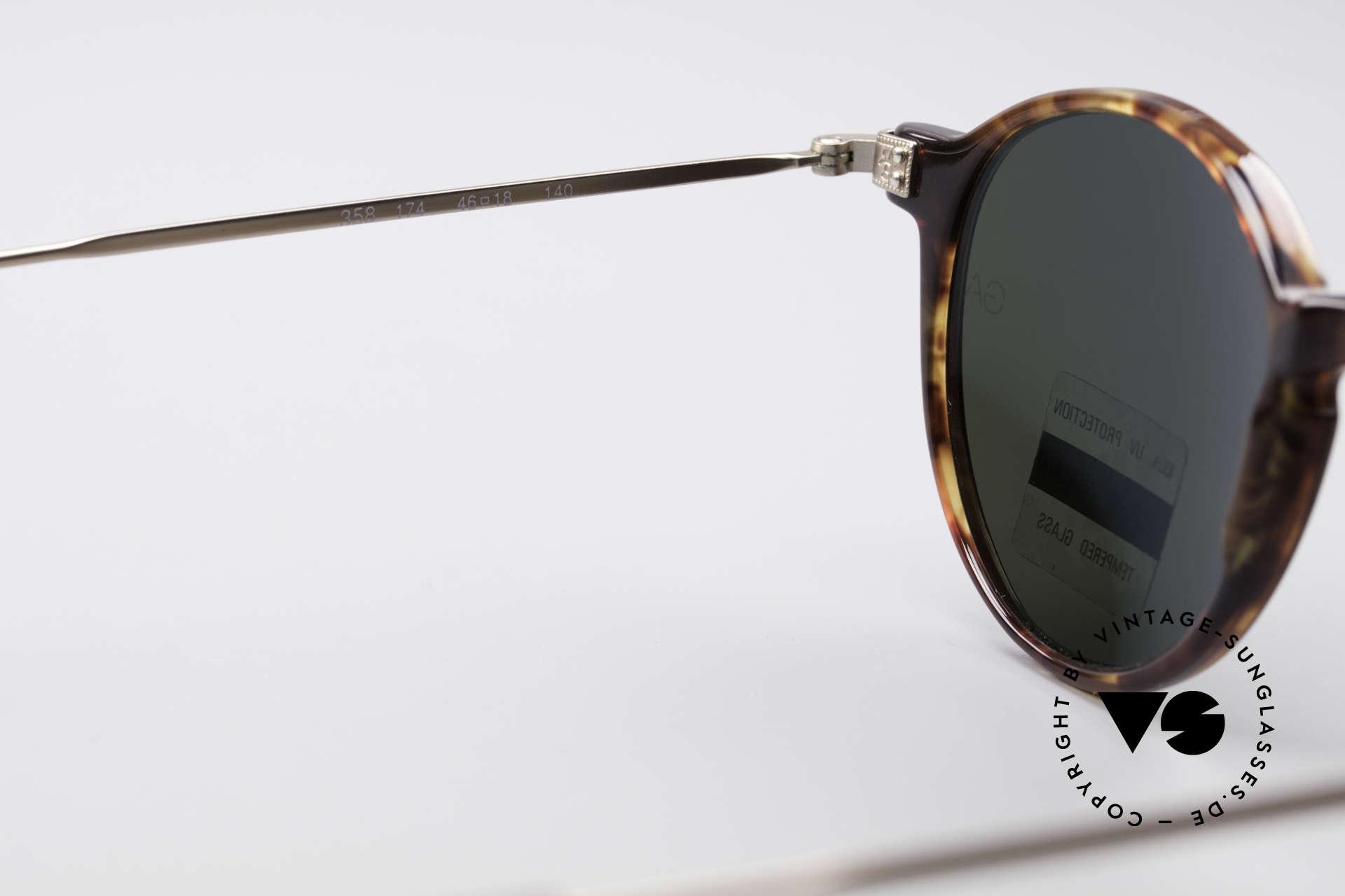 Giorgio Armani 358 Vintage Panto Sunglasses, NO retro specs, but an unique 30 years old ORIGINAL!, Made for Men