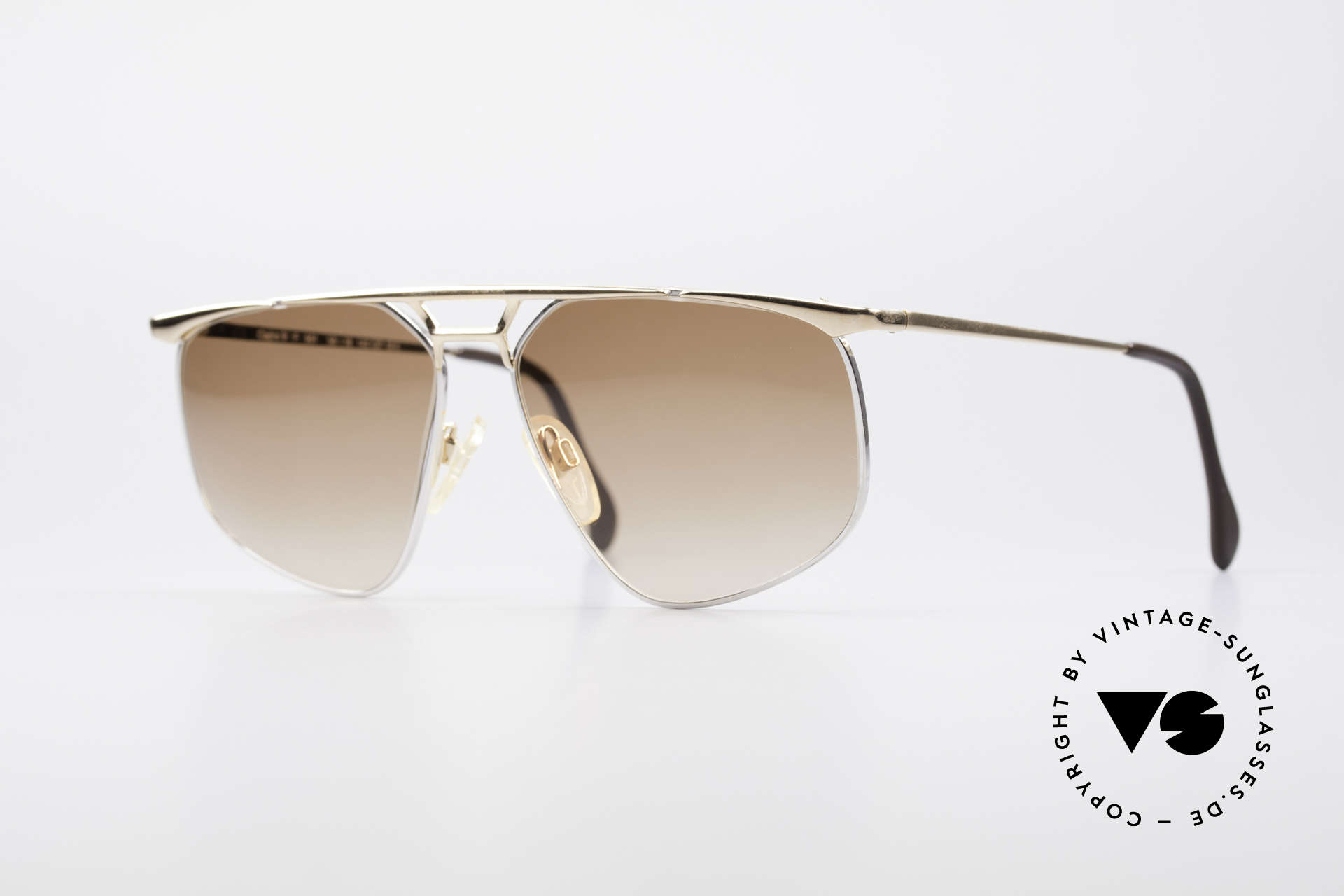 Zollitsch Cadre 9 18kt Gold Plated Sunglasses, vintage Zollitsch designer sunglasses from the 1980's, Made for Men