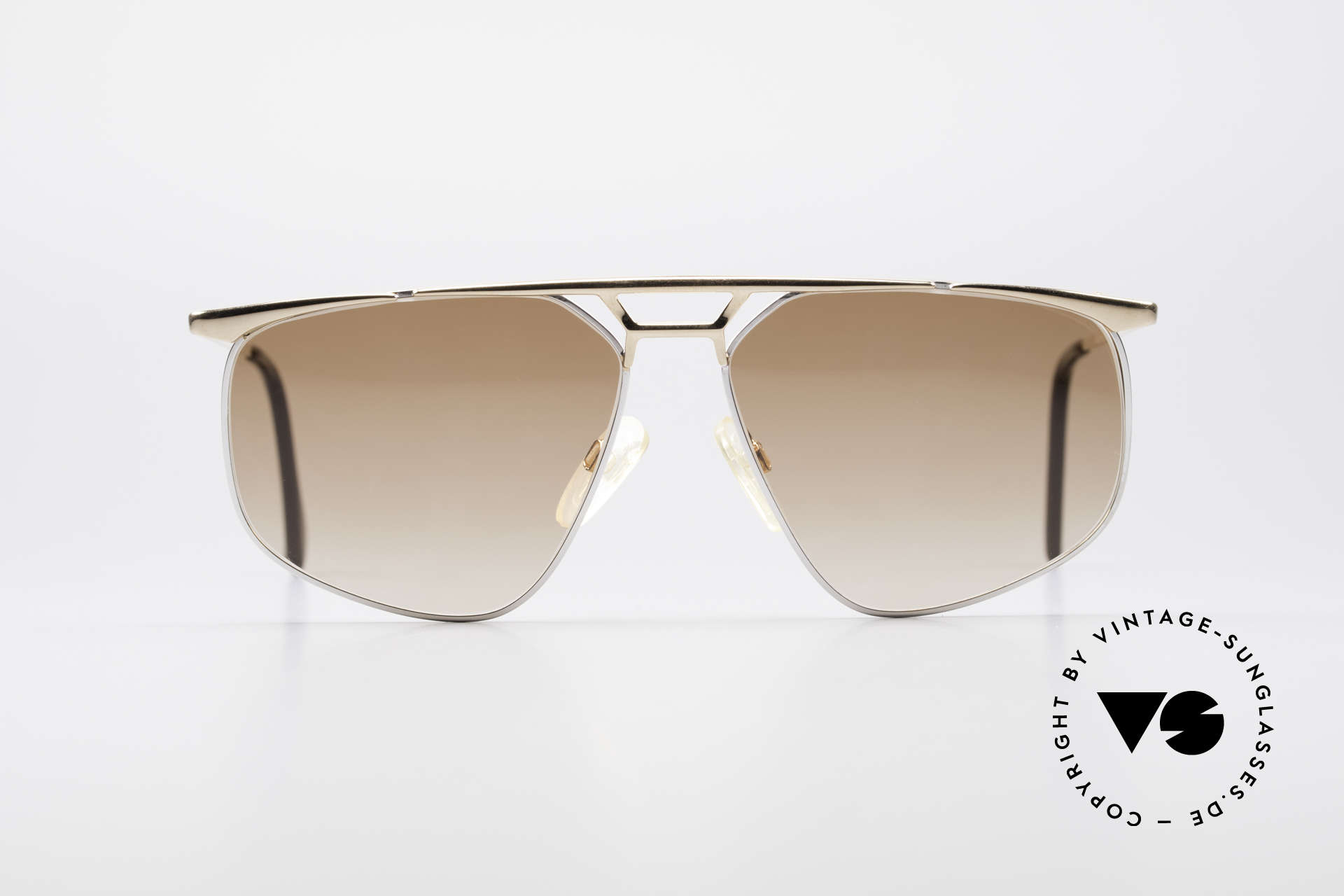 Zollitsch Cadre 9 18kt Gold Plated Sunglasses, precious, oversized frame for men (18kt gold-plated), Made for Men