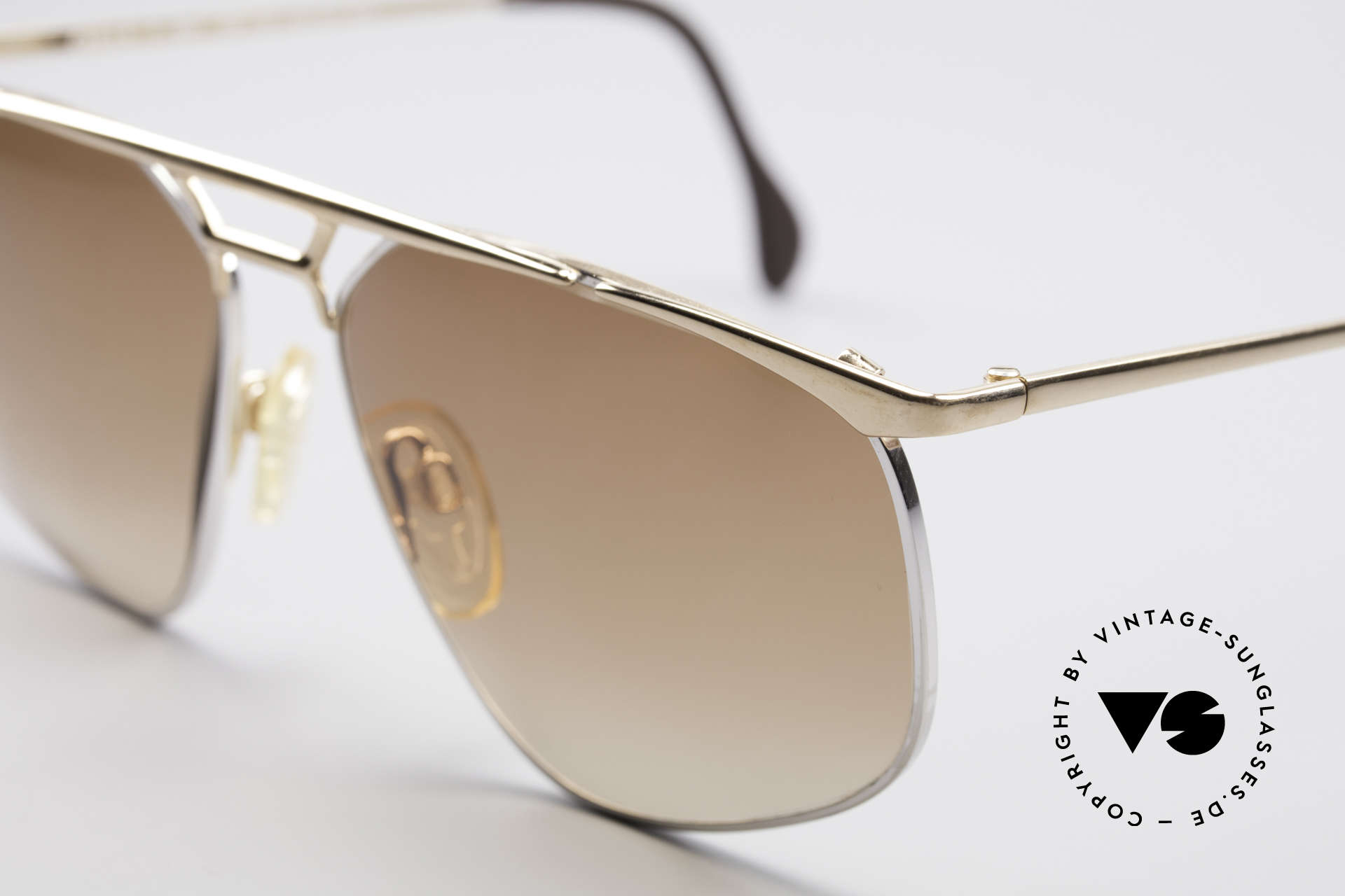 Zollitsch Cadre 9 18kt Gold Plated Sunglasses, interesting alternative to the ordinary 'aviator style', Made for Men