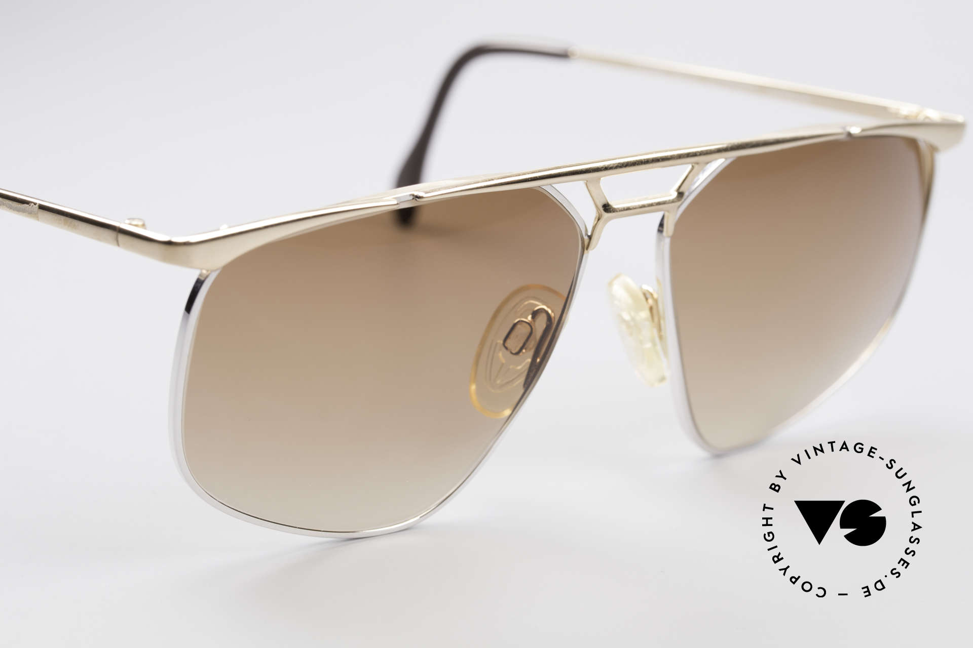 Zollitsch Cadre 9 18kt Gold Plated Sunglasses, unworn (like all our rare vintage Zollitsch sunglasses), Made for Men