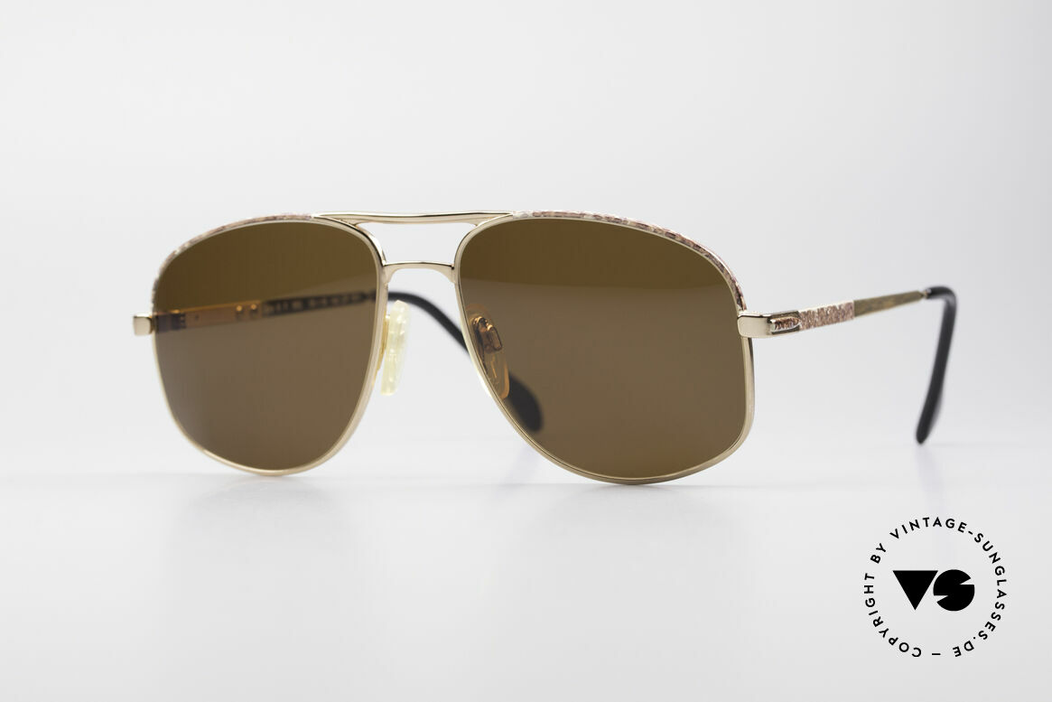 Zollitsch Cadre 8 18k Gold Plated Sunglasses, vintage Zollitsch designer sunglasses from the 1980's, Made for Men