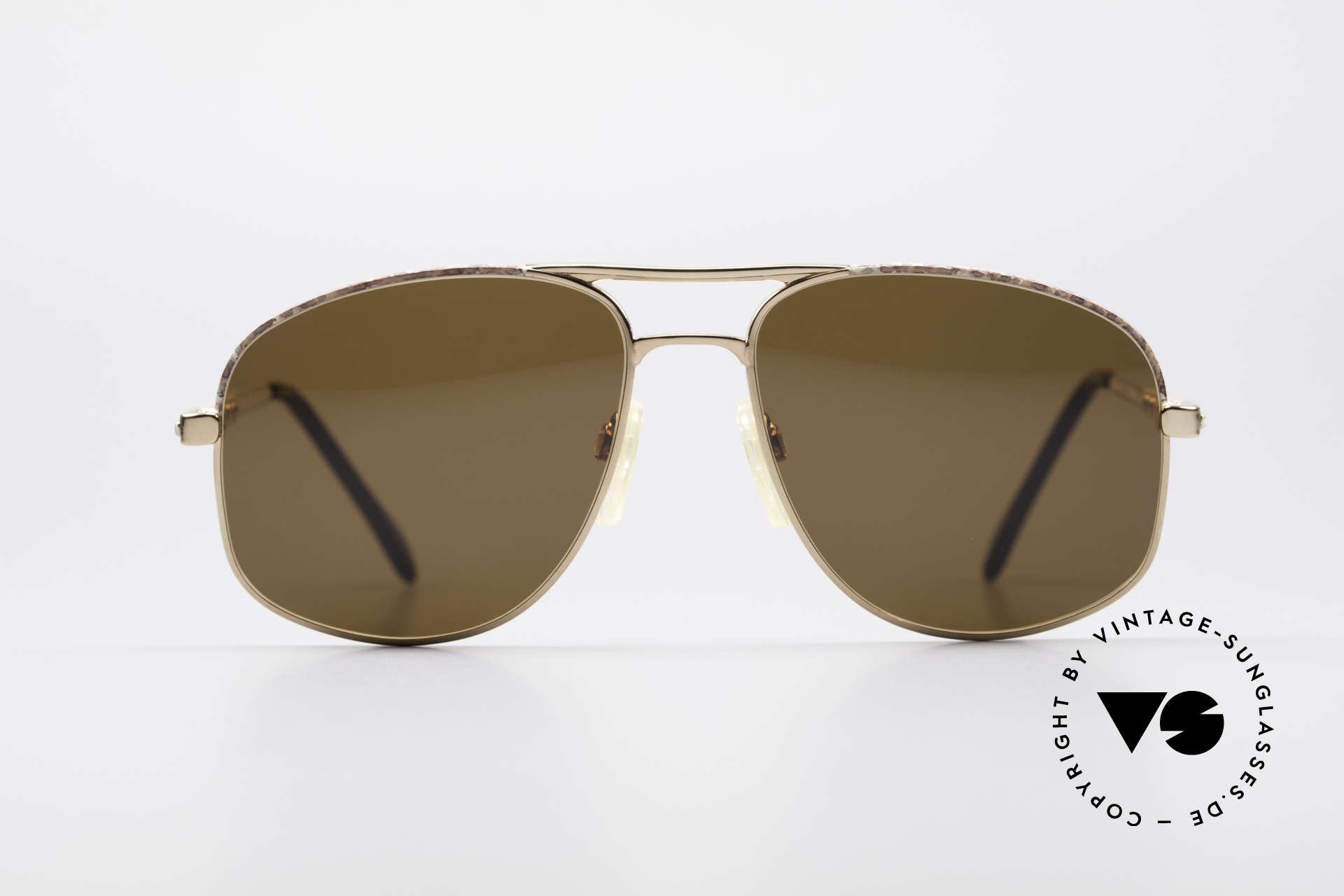 Zollitsch Cadre 8 18k Gold Plated Sunglasses, precious, 18kt gold-plated frame; made in W. Germany, Made for Men