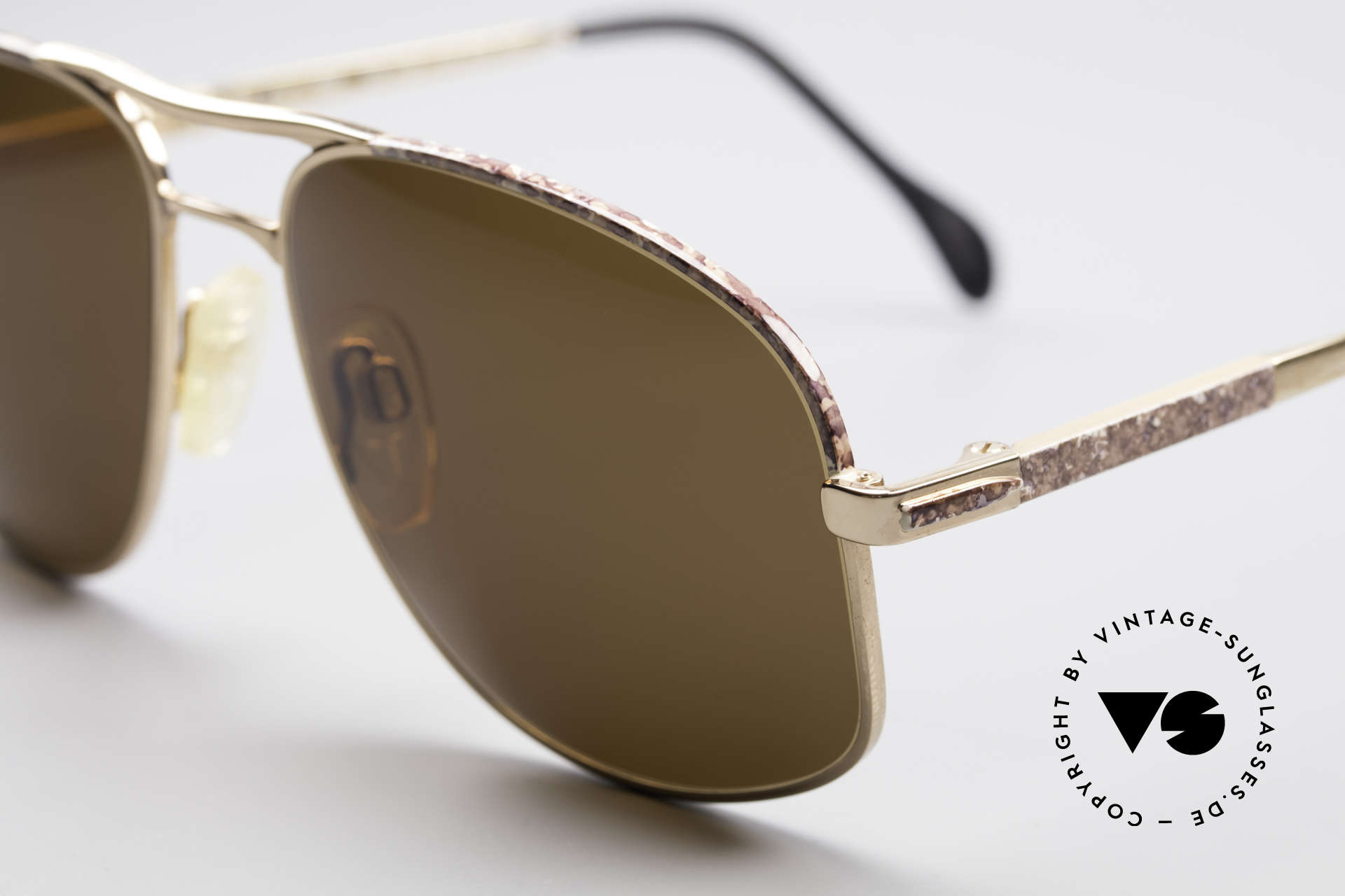 Zollitsch Cadre 8 18k Gold Plated Sunglasses, interesting alternative to the ordinary 'aviator style', Made for Men