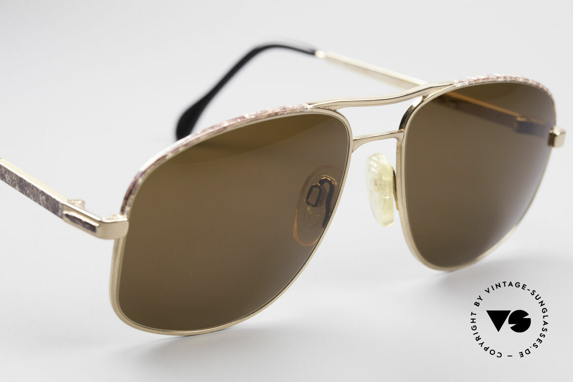 Zollitsch Cadre 8 18k Gold Plated Sunglasses, unworn (like all our rare vintage Zollitsch sunglasses), Made for Men