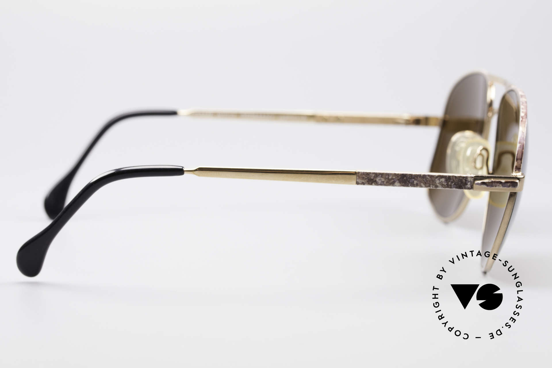 Zollitsch Cadre 8 18k Gold Plated Sunglasses, NO RETRO fashion, but a rare 30 years old ORIGINAL, Made for Men