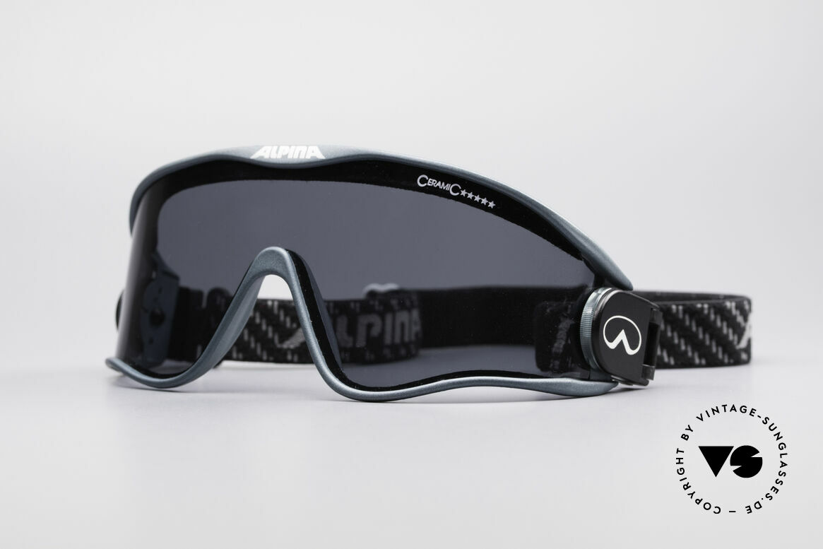 Alpina S3 Ceramic 90's Celebrity Sunglasses, rare ALPINA S3 CERAMIC vintage sports sunglasses, Made for Men and Women