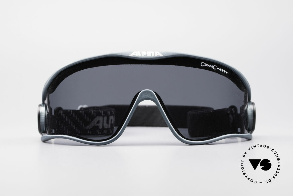 Alpina S3 Ceramic 90's Celebrity Sunglasses, ultra light frame with elastic straps (sports model), Made for Men and Women