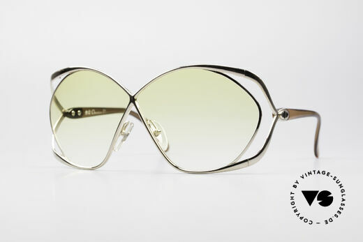 Christian Dior 2056 80's Ladies XL Sunglasses Details