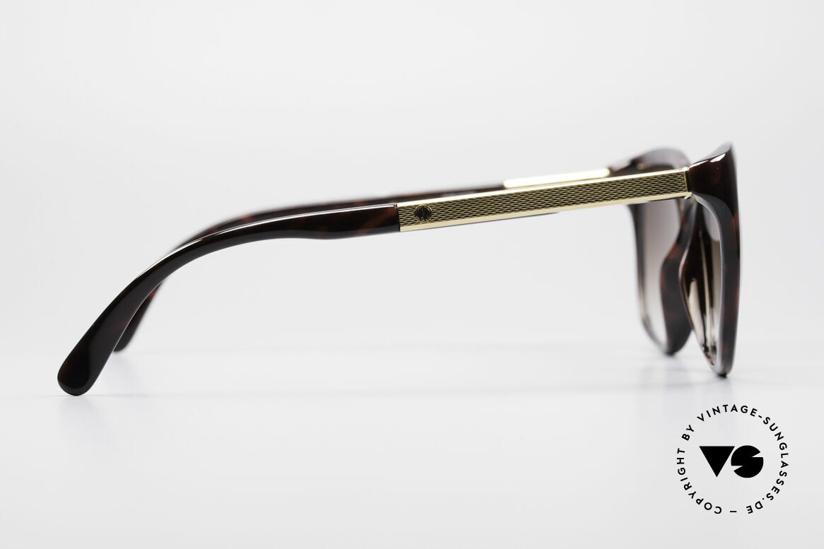 Dunhill 6006 Old 80's Sunglasses Gentlemen, very elegant frame coloring in tortoise-bordeaux, Made for Men