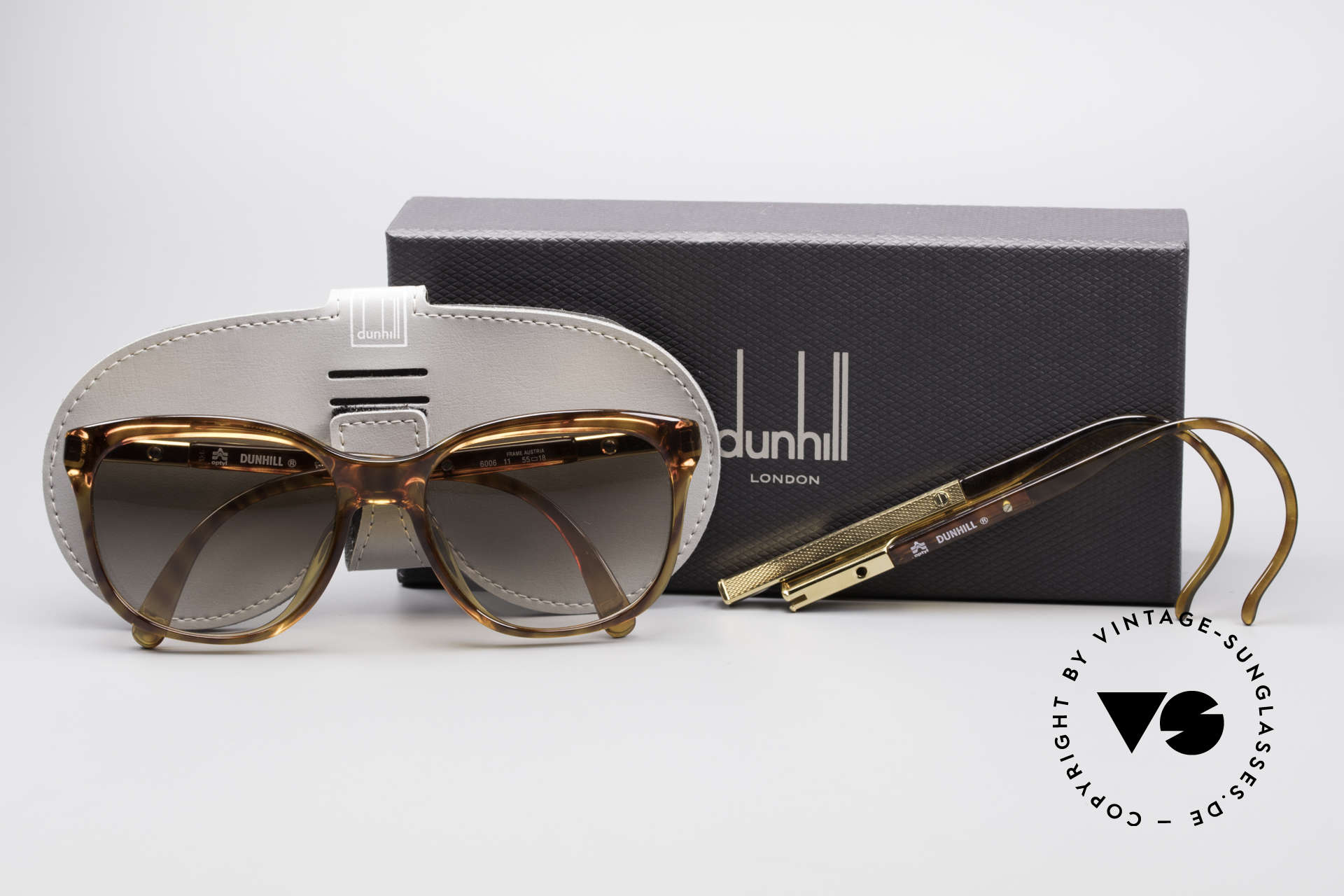 Dunhill 6006 80's Gentlemen's Sunglasses, with additional sport temples (easily changeable), Made for Men