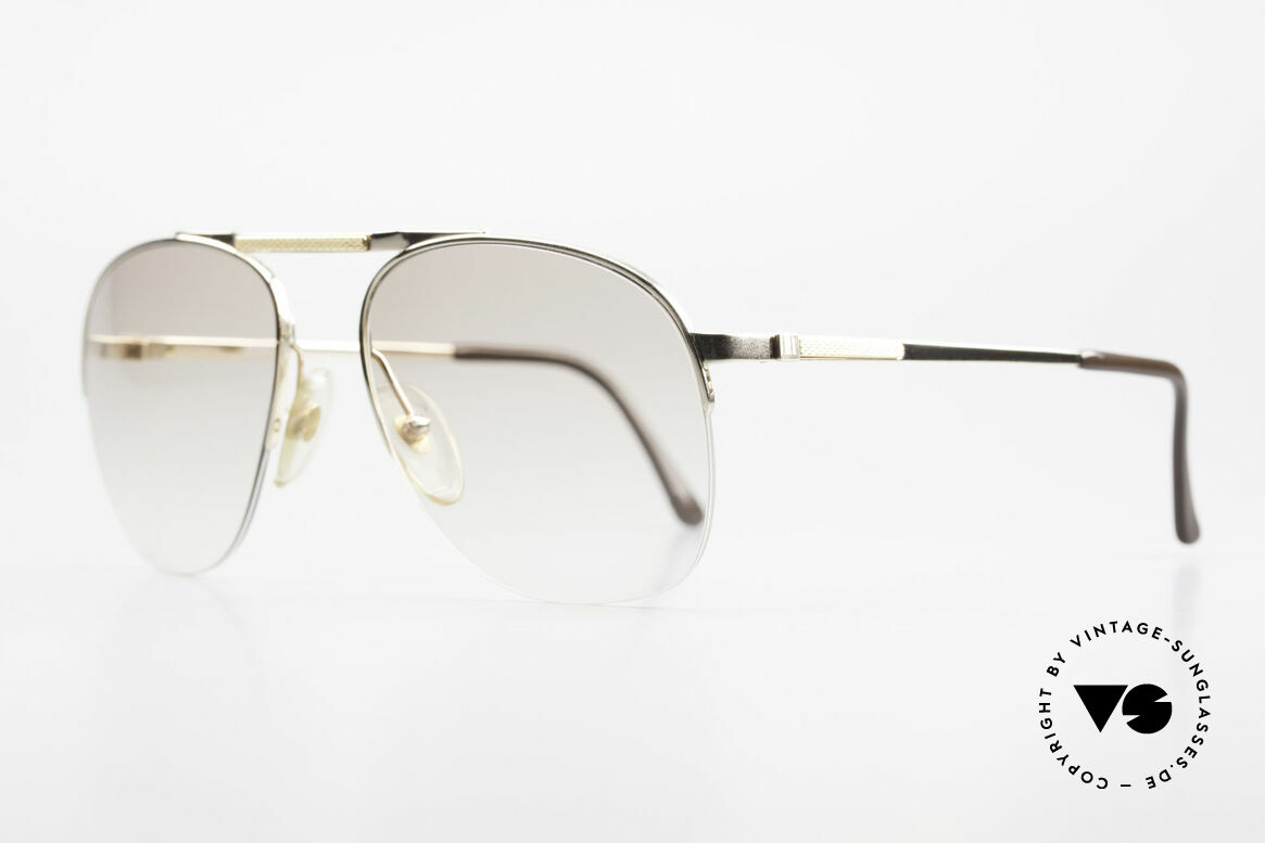 Dunhill 6022 Rare 80's Gentlemen's Frame, precious, gold-plated frame with light-tinted lenses, Made for Men