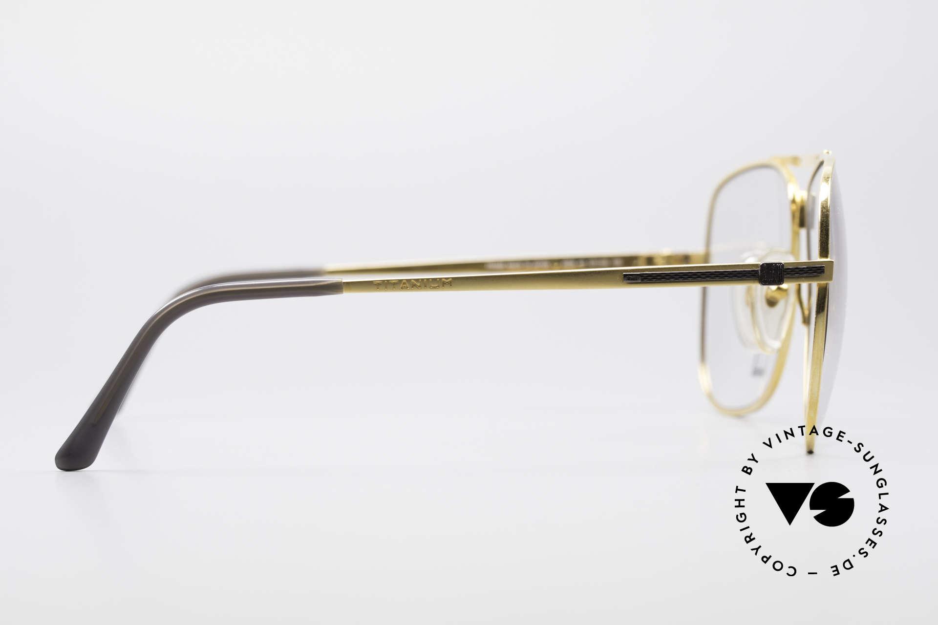 Dunhill 6038 Gold-Plated Titanium Frame, a precious unworn 80's ORIGINAL with original case, Made for Men