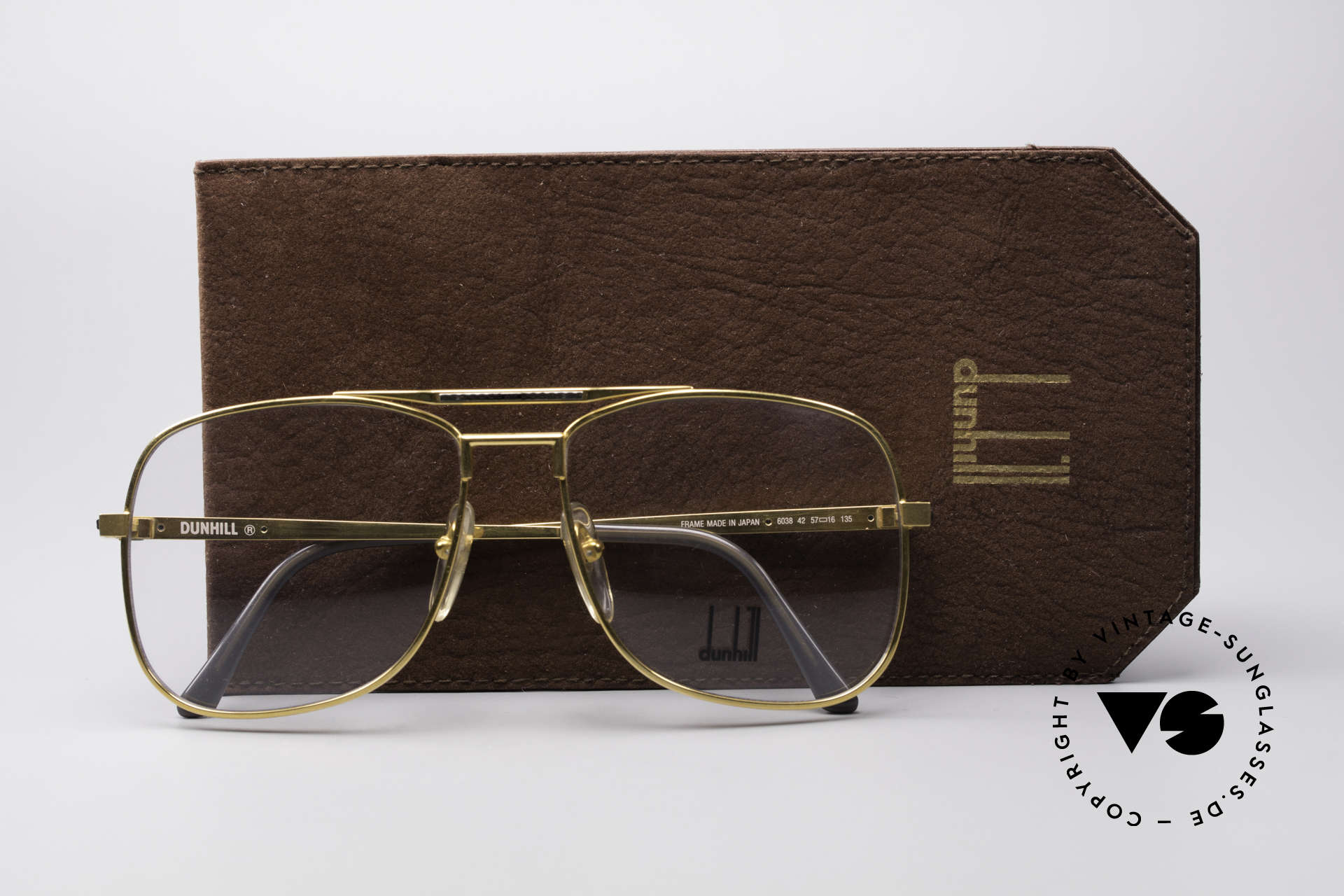 Dunhill 6038 Gold-Plated Titanium Frame, Size: medium, Made for Men