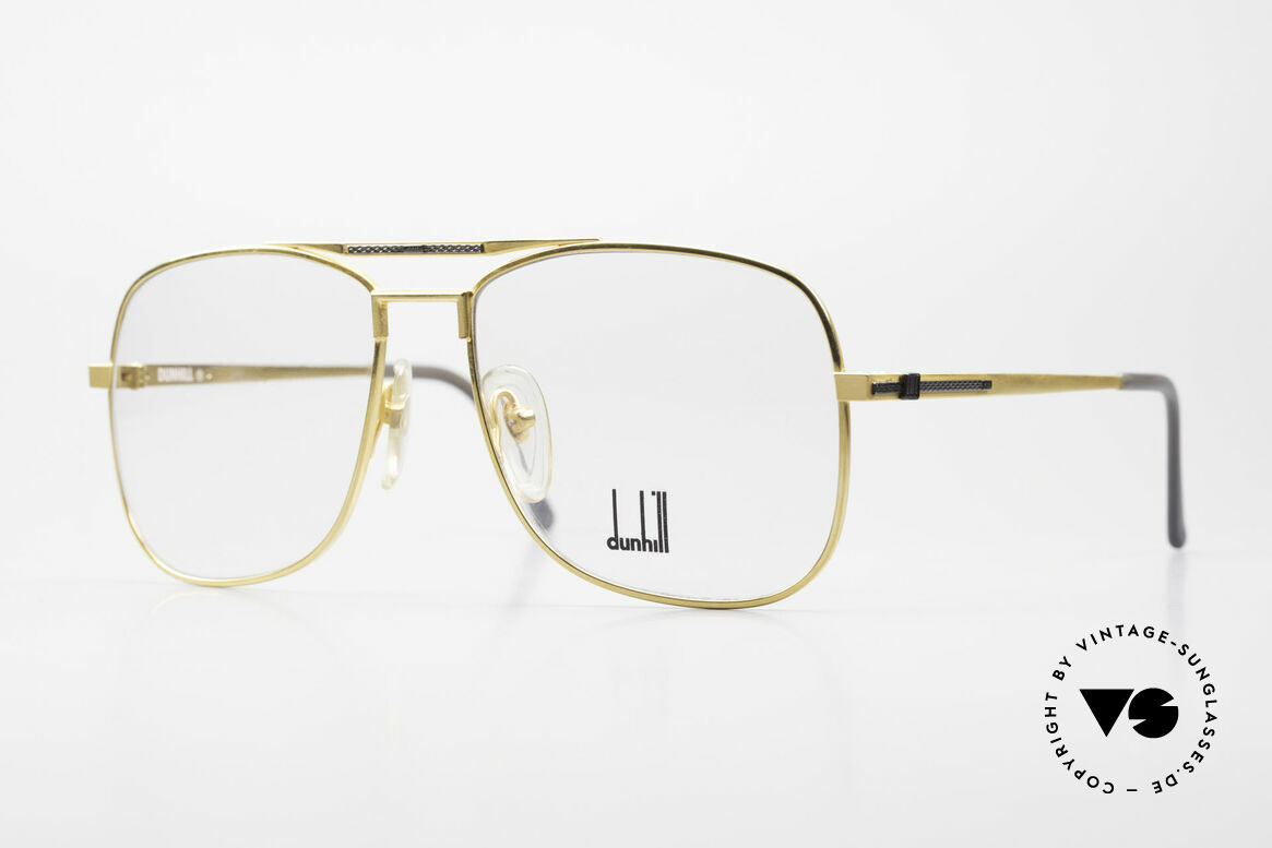 Dunhill 6038 Gold-Plated Titanium Frame, this Dunhill model is at the top of the eyewear sector, Made for Men