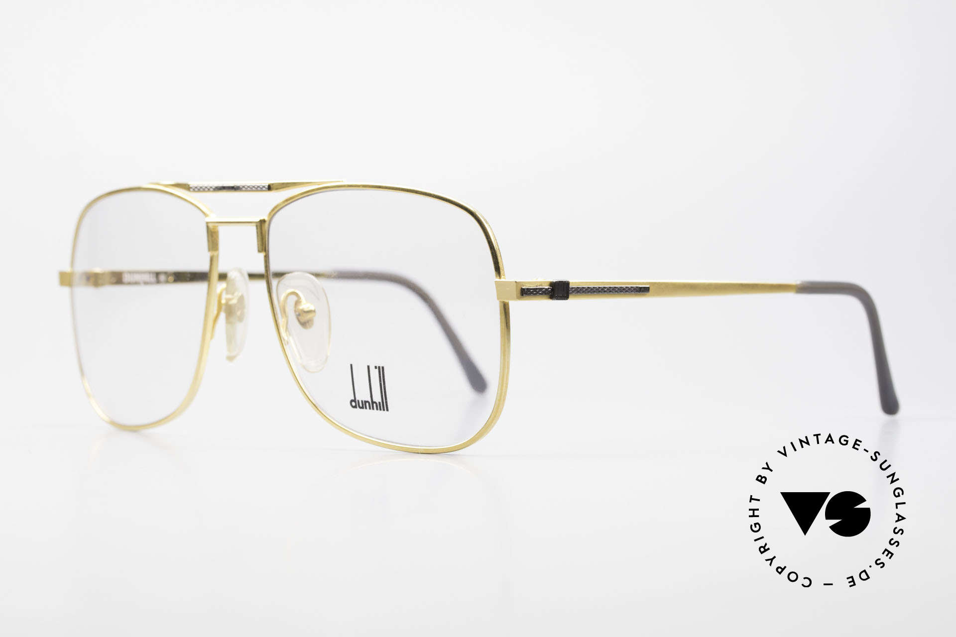 Dunhill 6038 Gold-Plated Titanium Frame, manufacturing costs in 1986 = 120,- DM (app. 75 USD), Made for Men