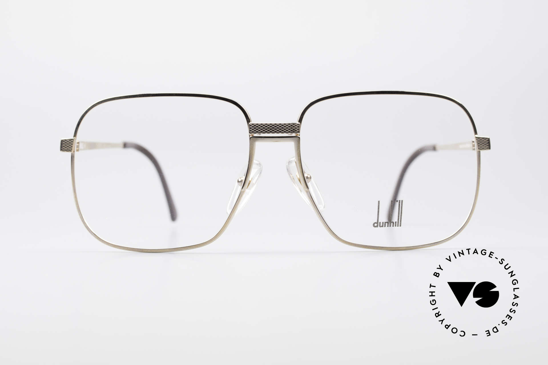 Dunhill 6090 Gold Plated 90's Eyeglasses, masterpiece of style, quality, functionality and design, Made for Men