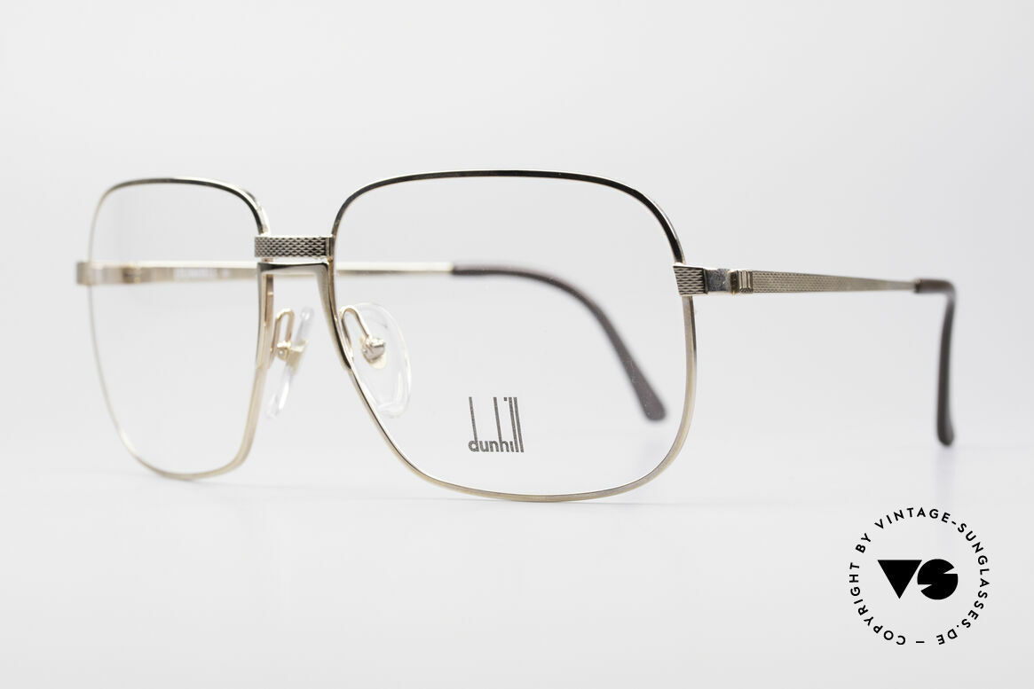 Dunhill 6090 Gold Plated 90's Eyeglasses, gold-plated frame with flexible bridge; 1. class comfort, Made for Men