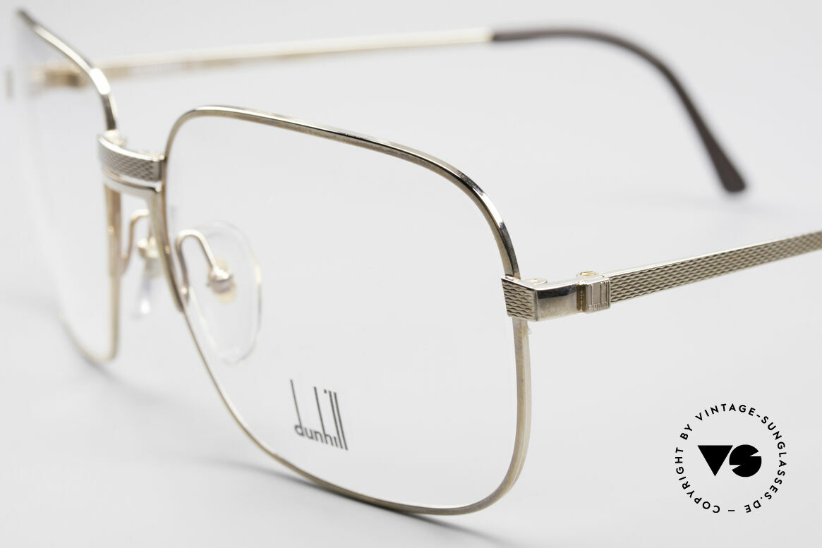 Dunhill 6090 Gold Plated 90's Eyeglasses, 'barley': hundreds of minute facets to give a soft sheen, Made for Men
