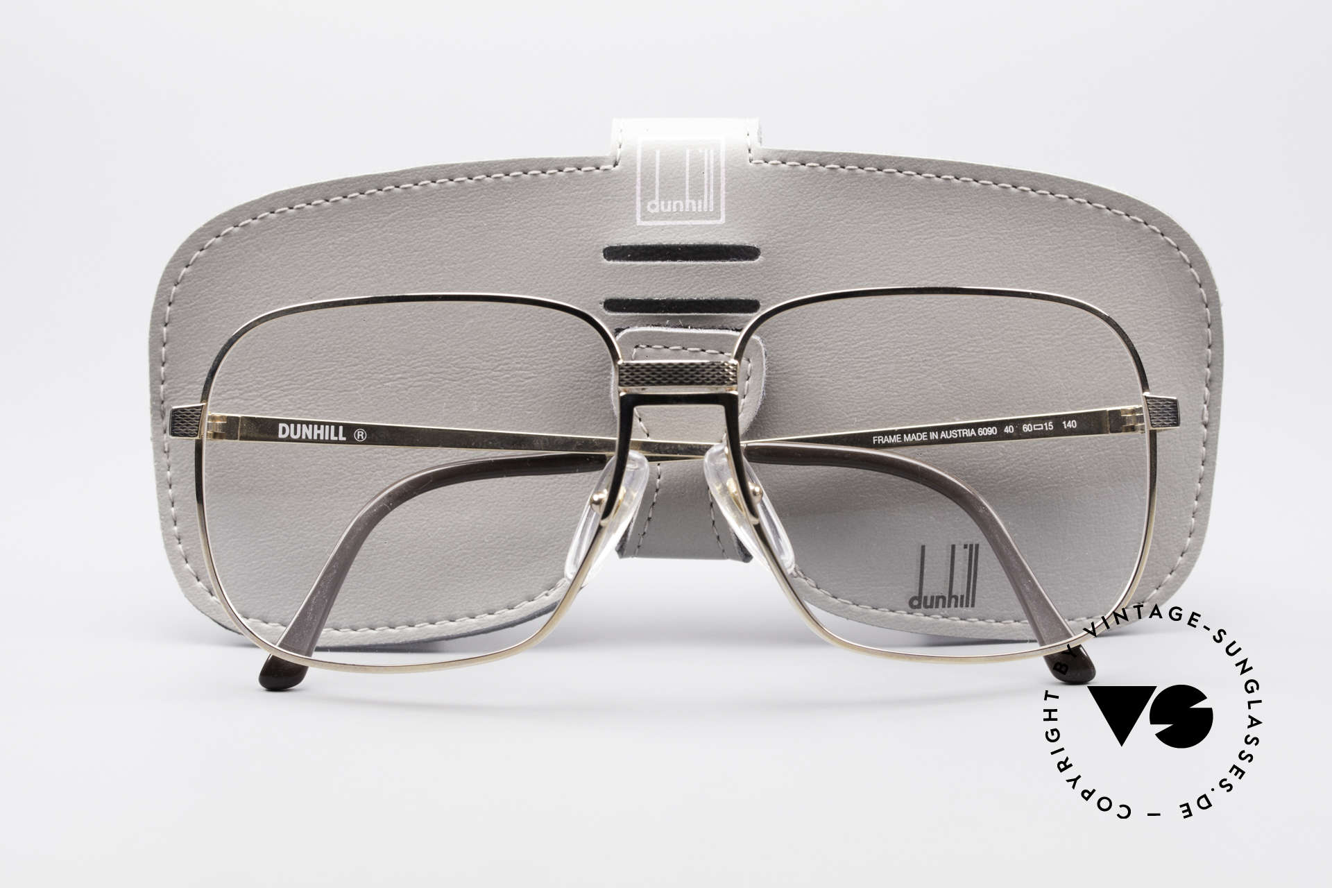 Dunhill 6090 Gold Plated 90's Eyeglasses, NO RETRO frame, but a precious old original from 1990, Made for Men